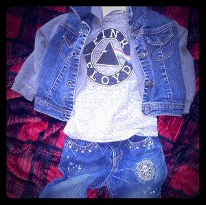 24 months Studded X Gap Jeans Skull Patch